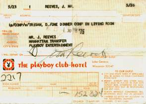 Playboy Club Receipt